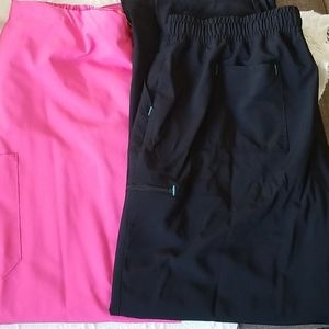 Womens plus scrub pants